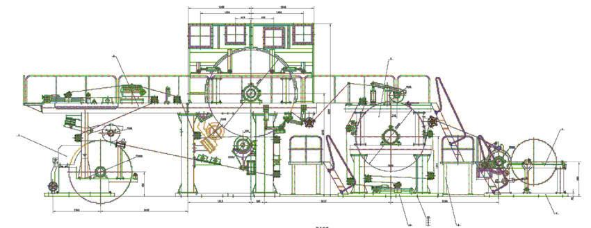 Схема линии по производству туалетной бумаги