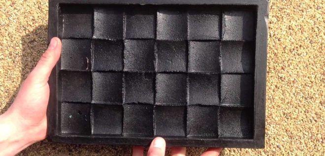 Форма для стеклянной плитки