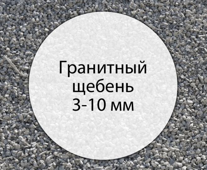 Гранитный щебень 3-10 мм