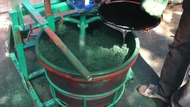 Изготовление резиновой плитки из крошки