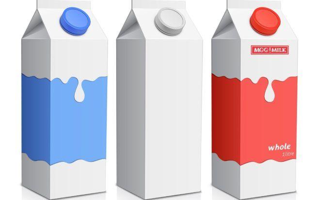Картонная тара для молока