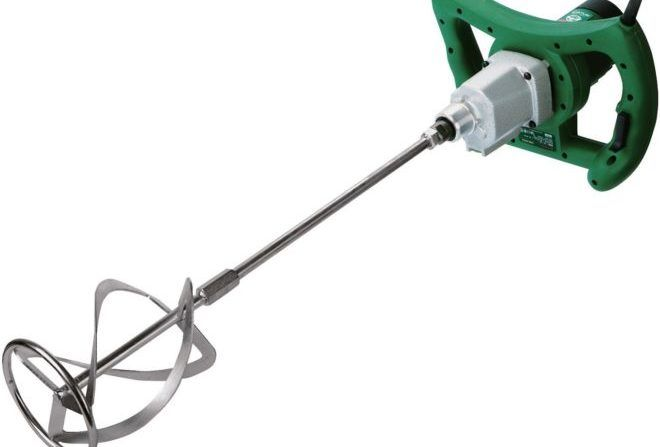 Миксер используется при смешивании шпатлёвки и клеевого состава