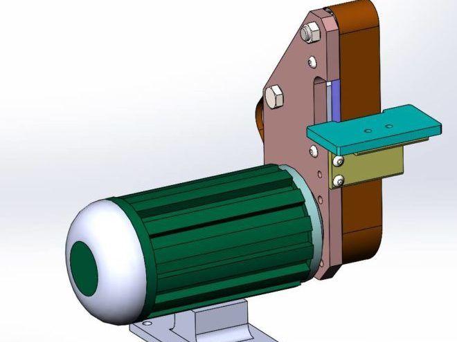 Модель самодельного шлифовального станка