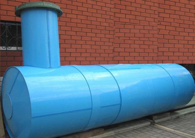 Накопительная емкость для канализации из металла