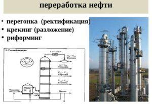 Процесс переработки нефти