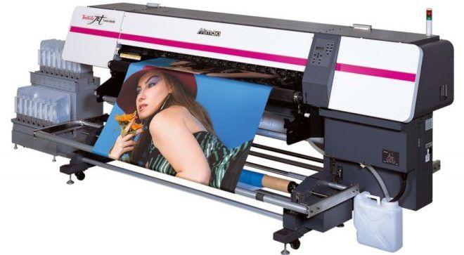Широкоформатный текстильный принтер для прямой или трансферной печати на ткани