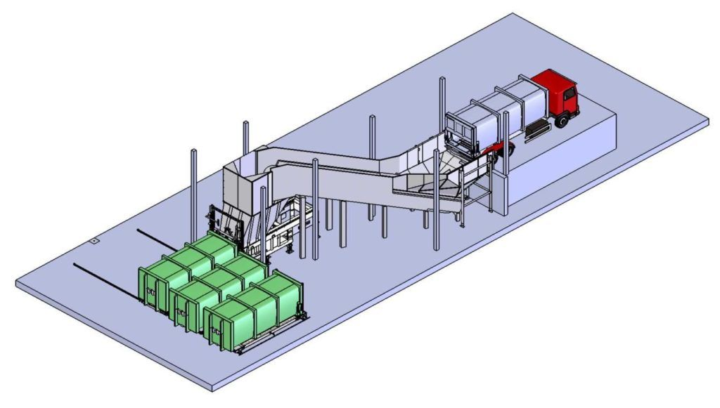 Схема мусороперерабатывающего завода