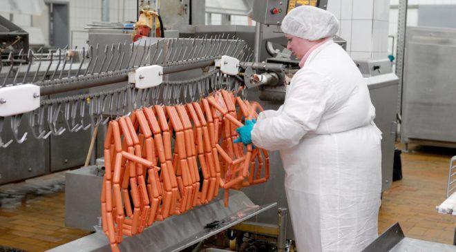 Цех для упаковки колбасы