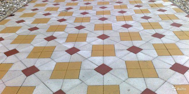 Укладка тротуарной плитки геометрия