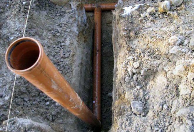 Монтаж наружной части канализации
