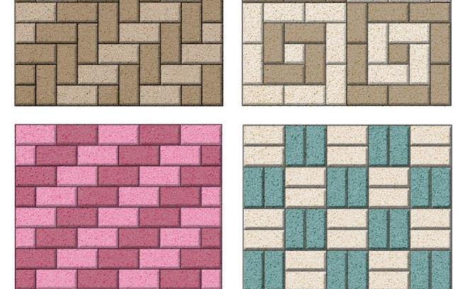 Cхемы укладки прямоугольной тротуарной плитки