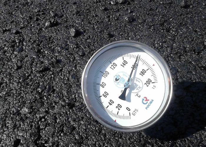 Температура асфальта при укладке