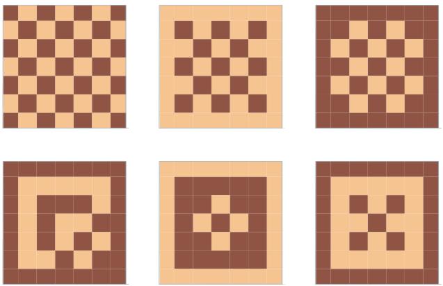 Возможные варианты укладки плитки