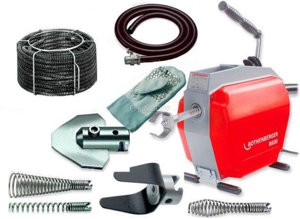 Электрическая машина для прочистки канализации Rothenberger R600 с набором принадлежностей