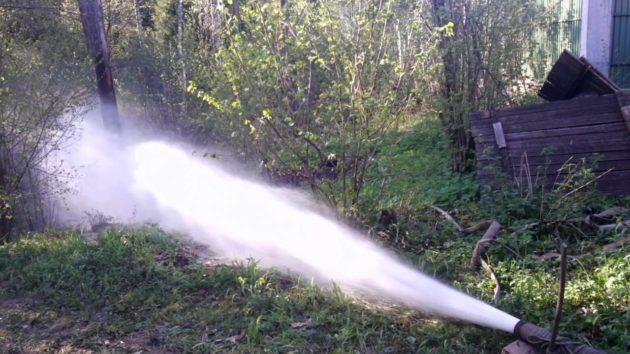 Компрессорная прокачка скважины на воду