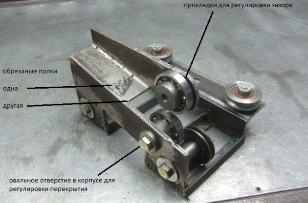 Конструкция самодельного роликового ножа