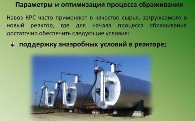 Реакторы для биогаза