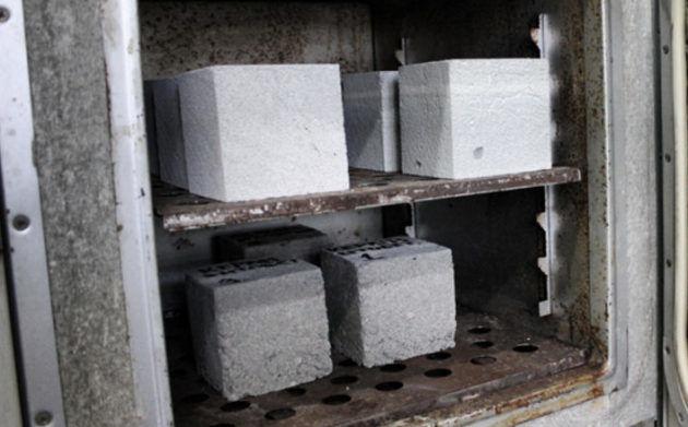 Сушка для строительных блоков