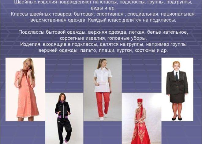 Разновидности одежды