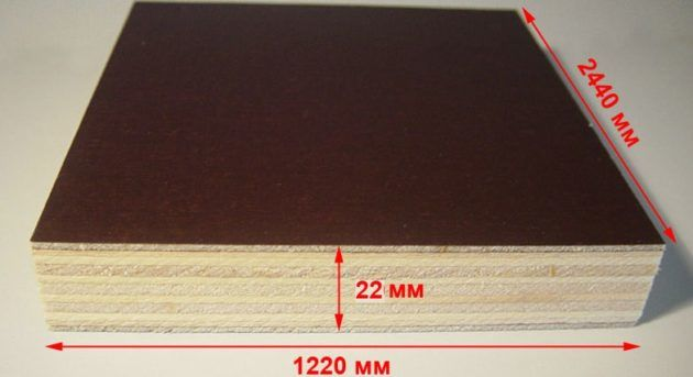 Толщина фанерного листа 22мм