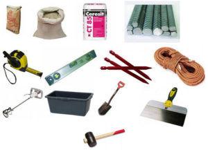 Инструменты для укладки пластушки