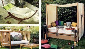 Переносная мебель очень удобна для использования на дачах
