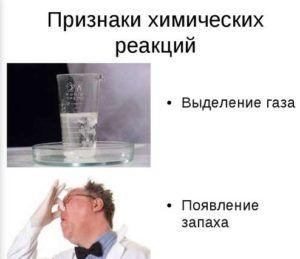 Признаки химических реакций