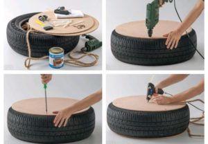 Изготовление стула из шины