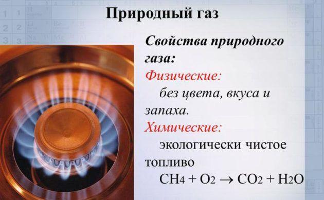 Свойства природного газа