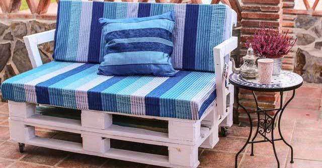 Текстильный диван сделанный своими руками