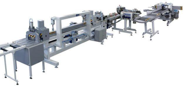 Автоматическая линия для производства конструкционного бруса