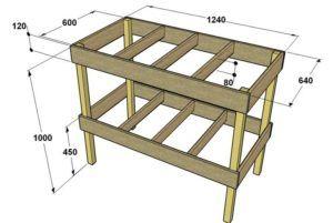 Чертеж столярного стола