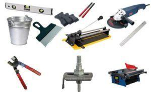 Необходимые инструменты для укладки плитки