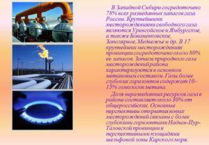 Месторождение природного газа в России