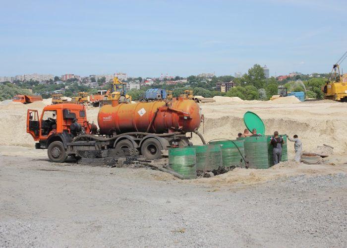 Очистка канализационных сооружений от песка