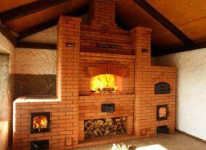 Печи из кирпича длительное время поддерживаю тепло в помещении