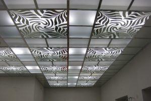 Пескоструйная обработка стекла применяется для подвесной потолков