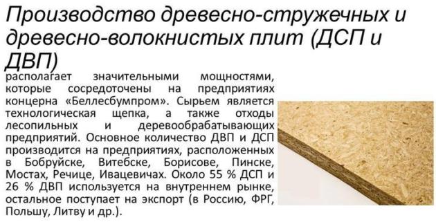 Производство древесно-стружечных плит