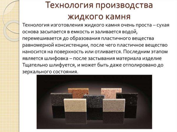 Производство жидкого камня