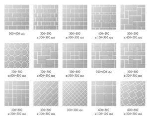 Различные виды укладки гранитной плитки