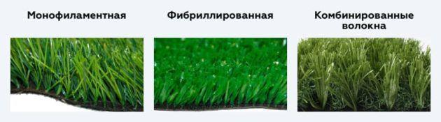 Разновидности искусственной травы