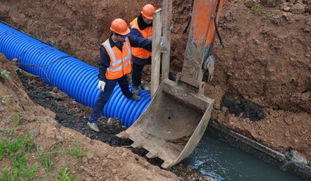 Ремонтные работы канализации в городах