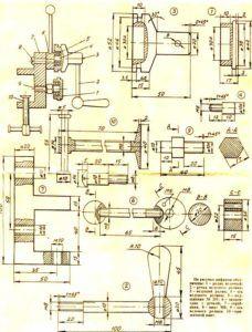 Схема станка для ключей