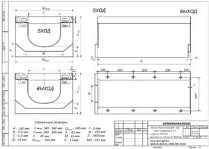 Технические параметры бетонных лотков