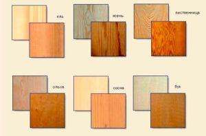 Виды древесины