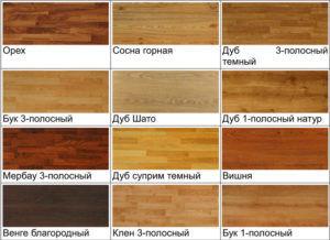 Виды натуральной древесины
