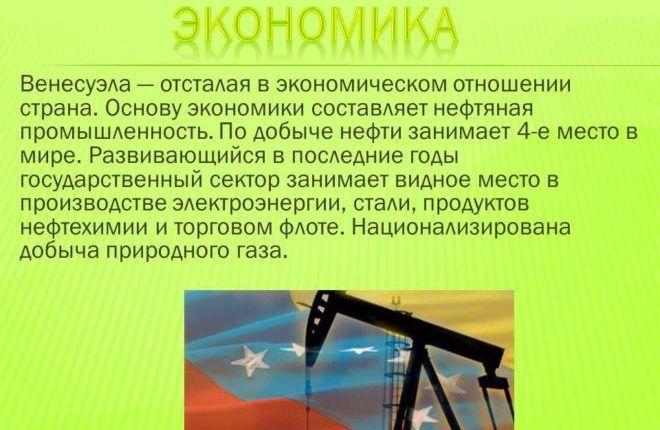 Добыча газа в Венесуэле