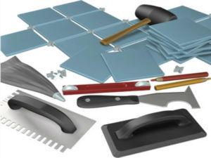Инструменты необходимые для укладки плитки