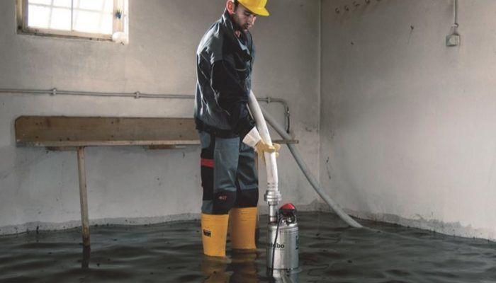 Откачка воды из подтопленных подвалов