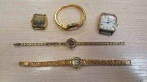 Одним из материалов для получения золота являются позолоченные часы